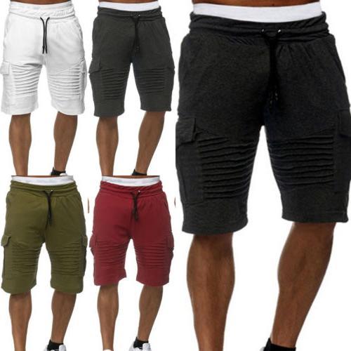 Men Shorts Training Running Workout Jogging Pants Trouser