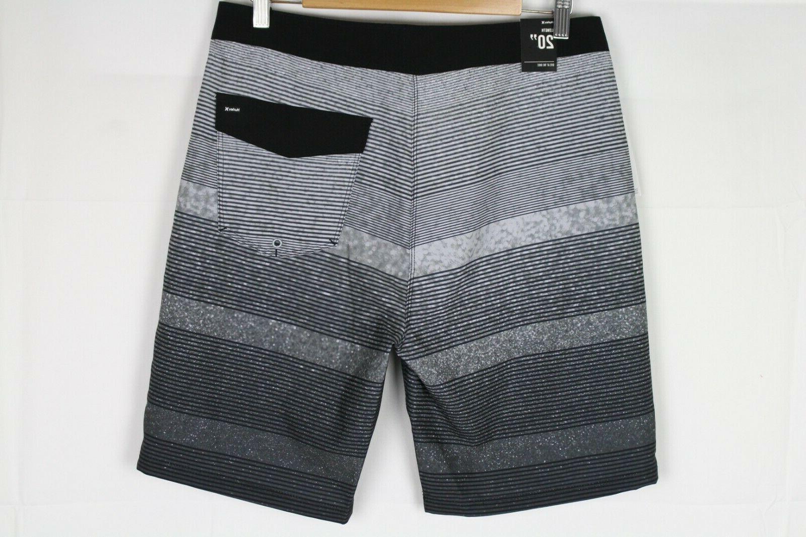 Hurley Men's Gray Striped MBS0009020