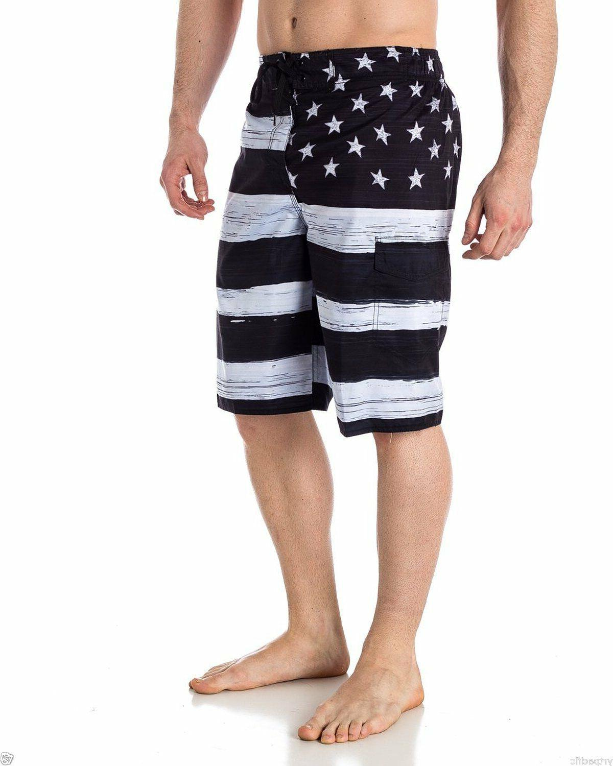 MEN'S TRUNK BOARD Black & USA