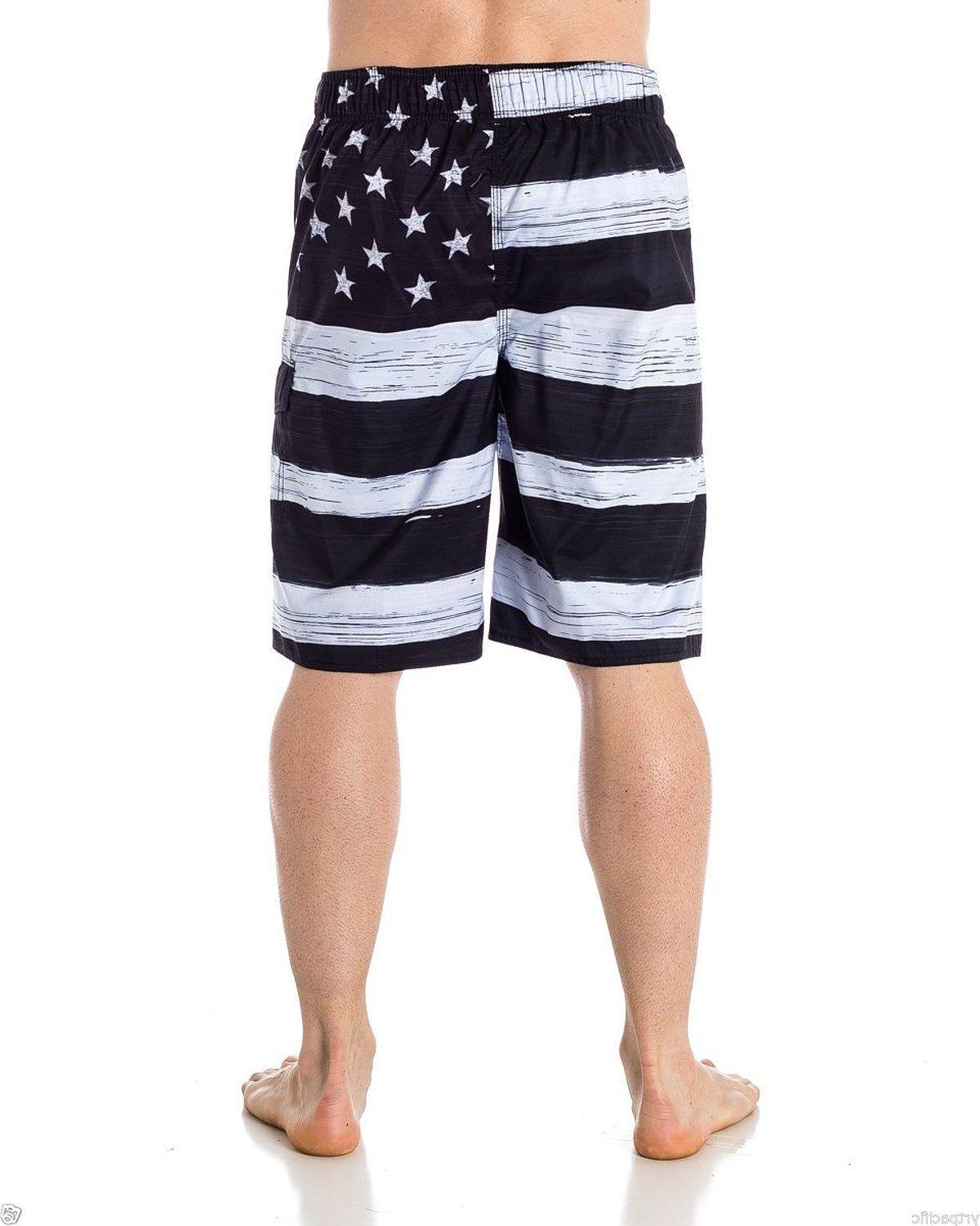TRUNK BOARD SHORTS Black & USA
