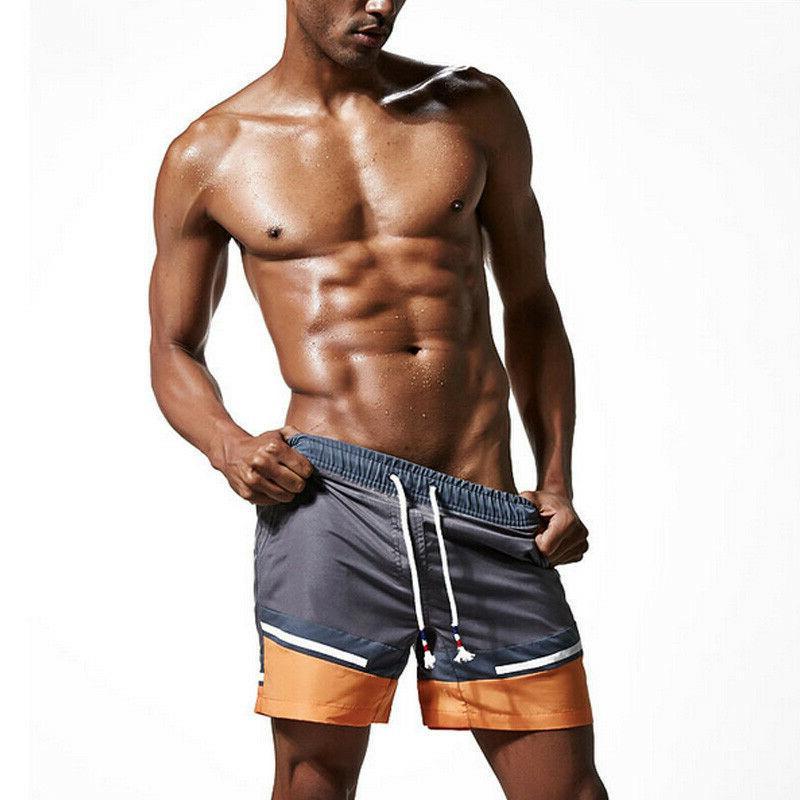 Mens Swim Swimming Running Shorts Pants