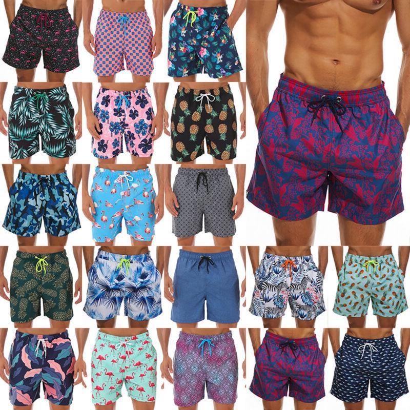 Men Swimming Shorts Swim Swimwear Sports Running Short Pants