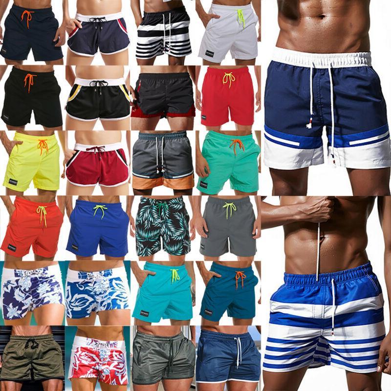 mens swim trunks beach swimwear quick dry