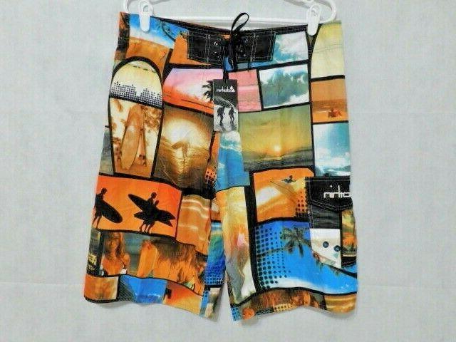 CLOTHIN Quick Dry Boardshort Shorts NWT