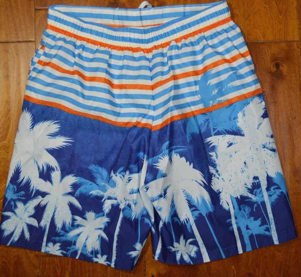 Men's Deluxe White Palm Swim S, M,