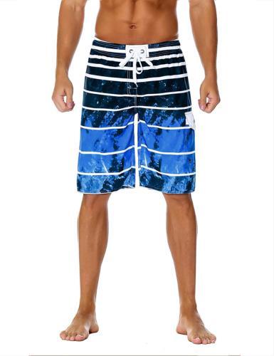 men s board shorts quick dry striped