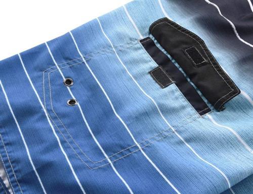 Unitop Men's Board Swim Dry Striped with Blue-42