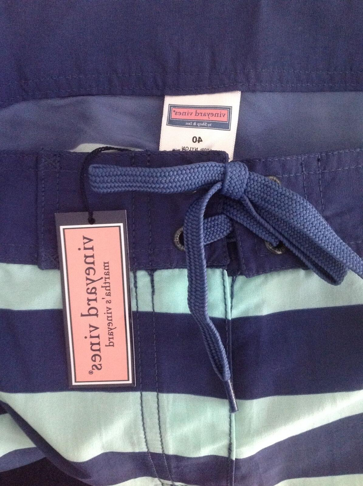 VINEYARD Men's Shorts Swim Trunks Size ~ Blue Mist ~NEW W/TAGS!