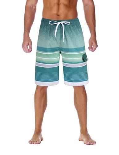 unitop Men's Boardshorts Printed Summer Casual Athletic Boar