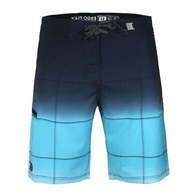 men s check beach vacation swim trunks