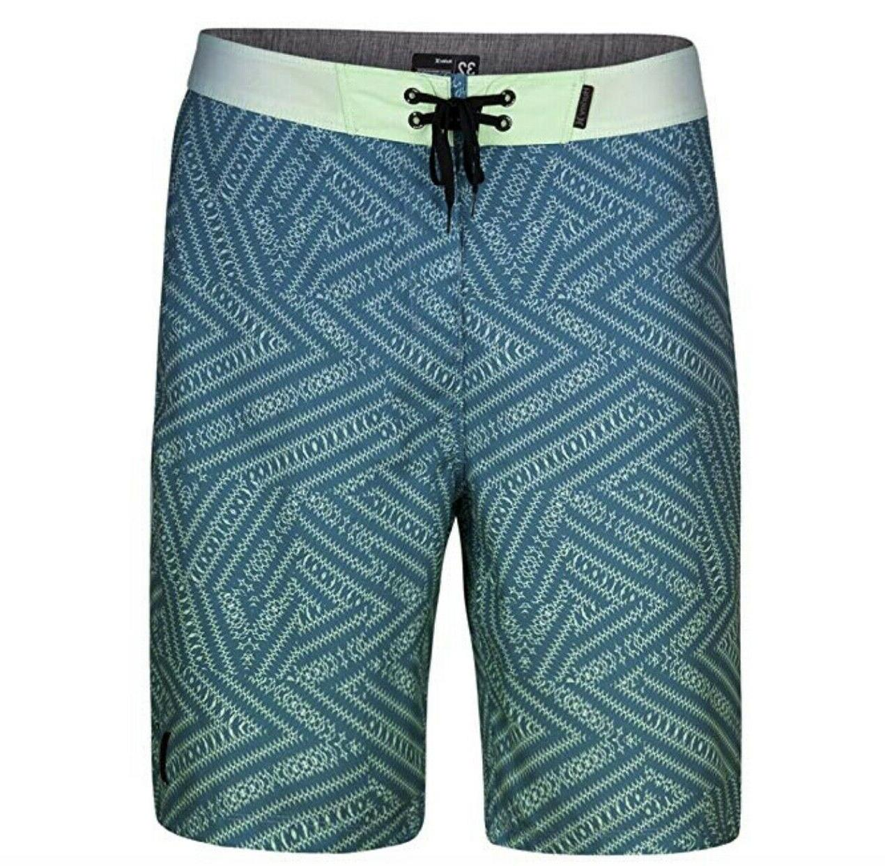 "Hurley Men's Crosswinds 21"" Boardshorts Aqua Green Supersued"