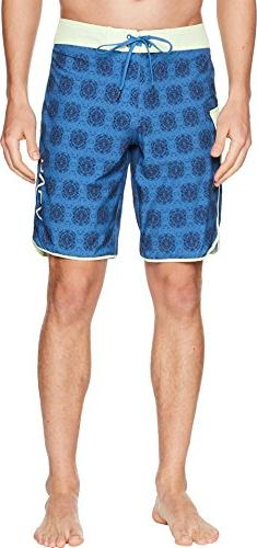 RVCA Men's Eastern Boardshort Trunk, Cobalt, 30