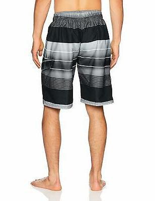 Kanu Surf Echelon Stripe Dry Board Shorts Swim Trunk