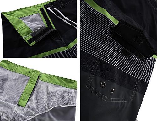 Nonwe Men's Dry Shorts Lining Black&Gray 28