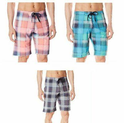 Kanu Surf Men's Gray, Blue or Coral Board Shorts - Pick Size