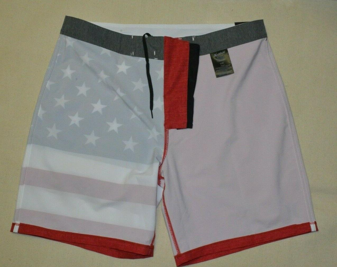"Hurley Men's Cheers USA 18"" Shorts 36 40 New"