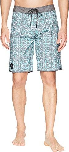 RVCA Men's Sanur Trunk, Light Teal, 33