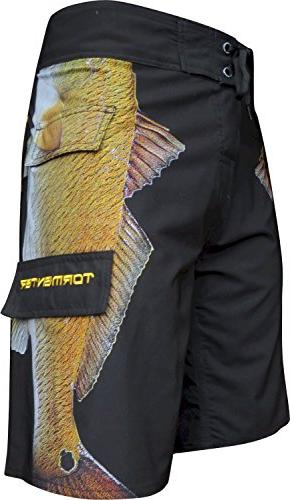 men s side to boardshorts redfish 36