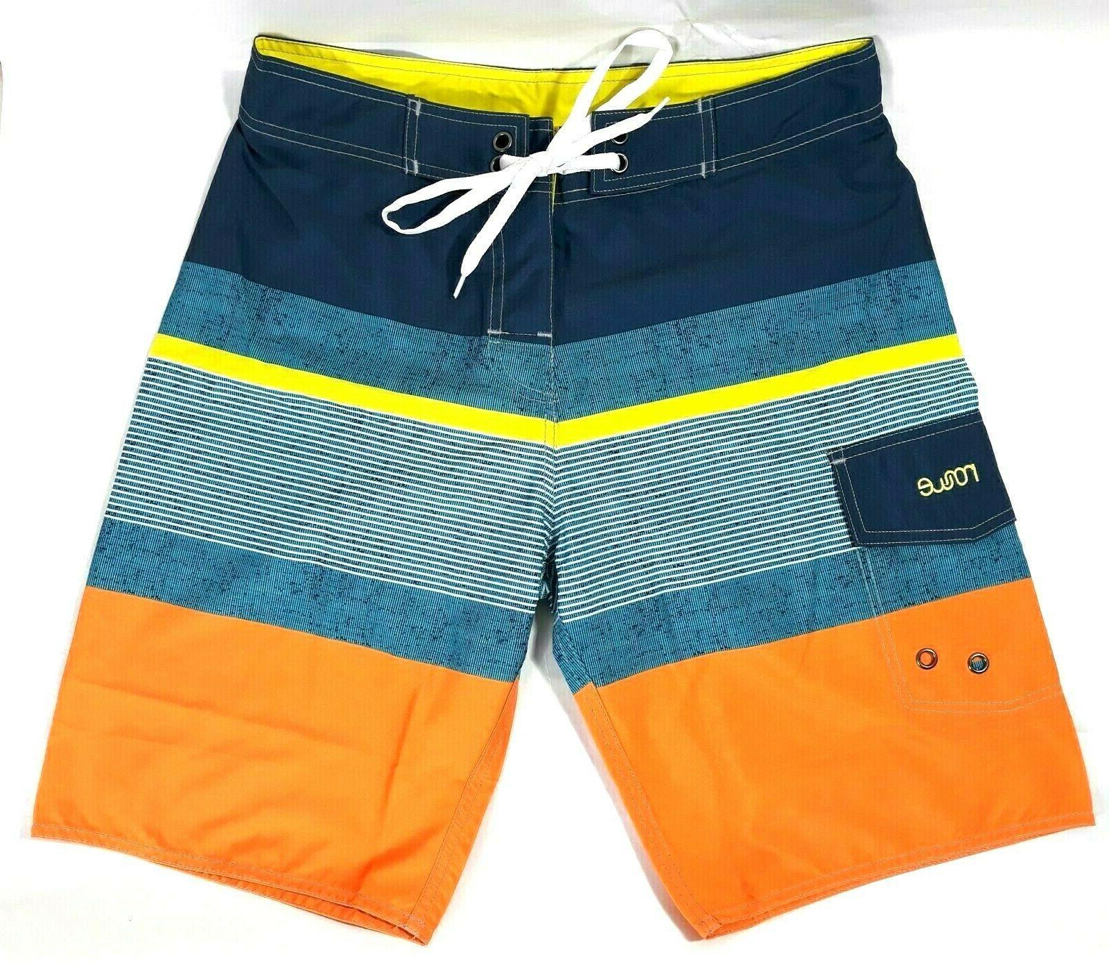 Nonwe Size 30 Board Swim Lined Multi-color NWT