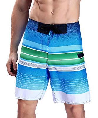 Milankerr Men's Stripe Boardshort