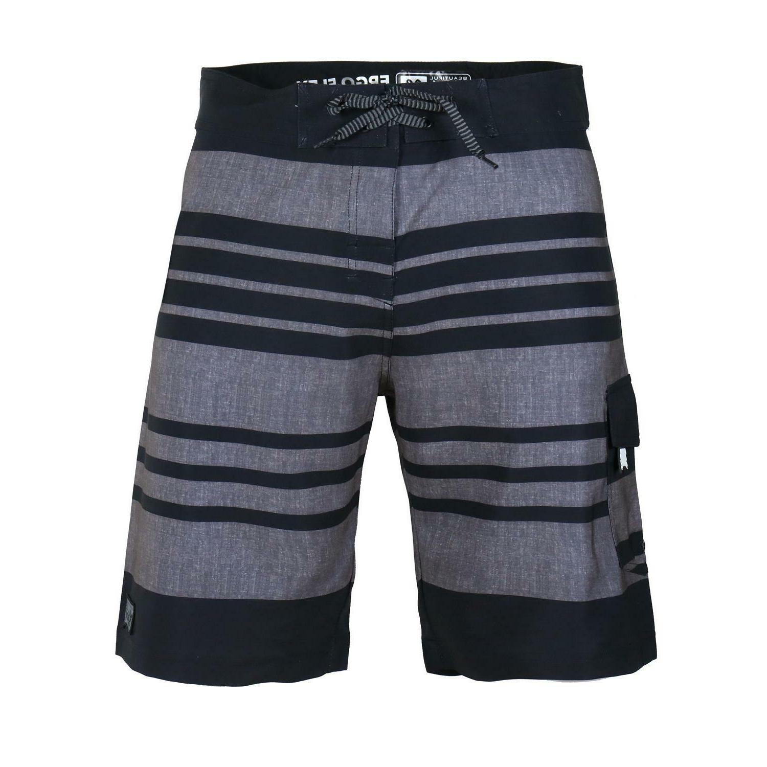 men s striped beach vacation swim trunks