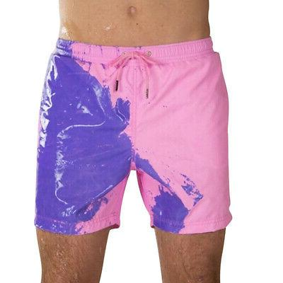 Men Color Changing Swimming Swim Shorts Bathing