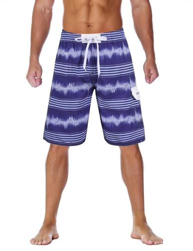 4464d74a57 Unitop Men's Striped Swim Trunks Summer ...