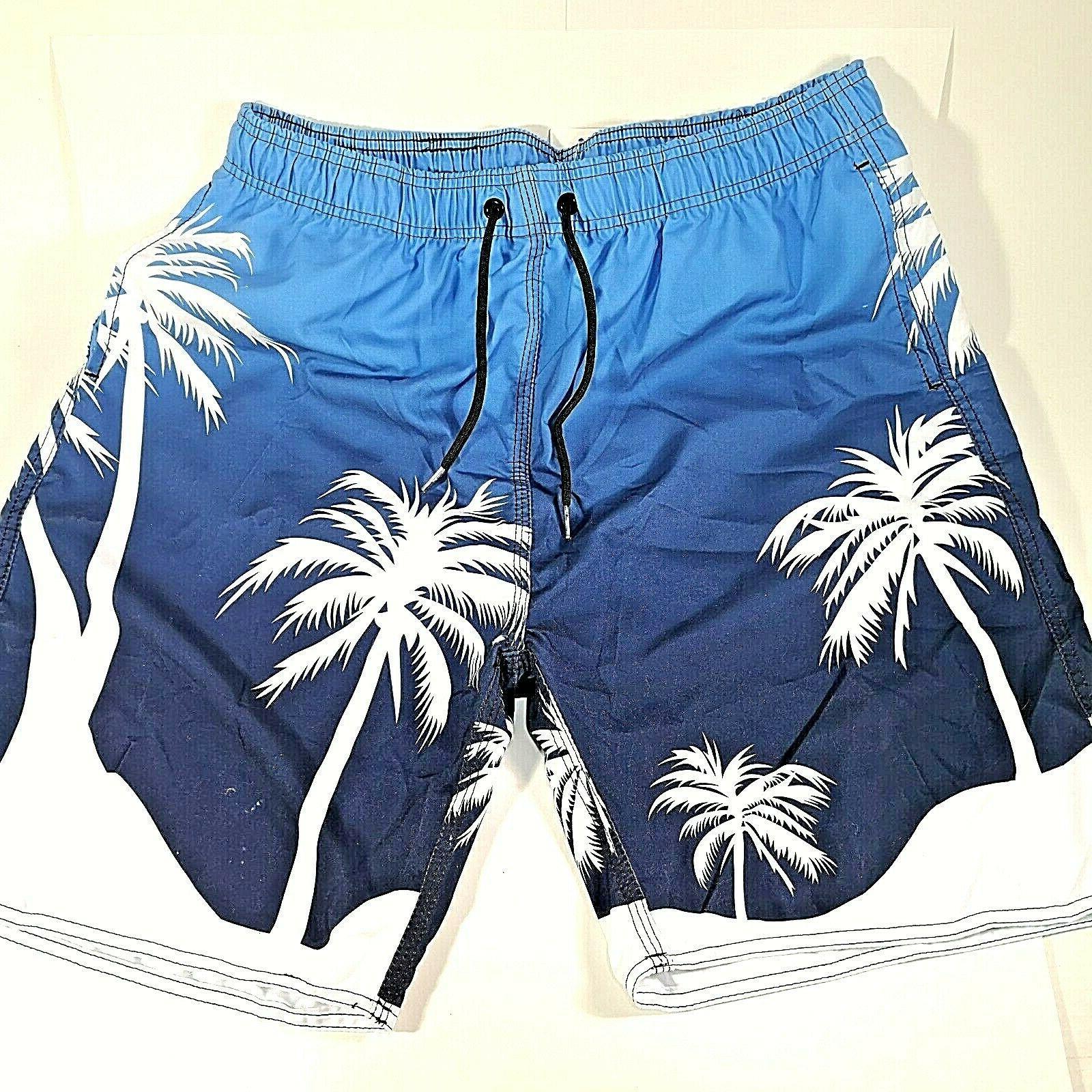 Milankerr Swim Trunks Swimwear Bathing Board Shorts Palm