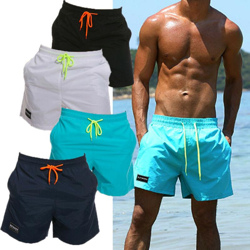 men swim shorts sport trunks running swimsuit