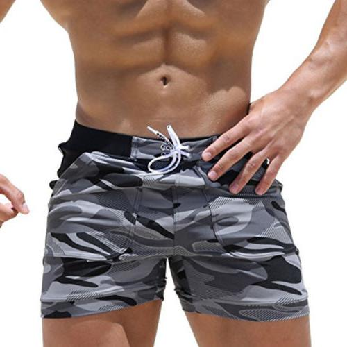 Men Shorts Swimming Trunks Boxer Briefs