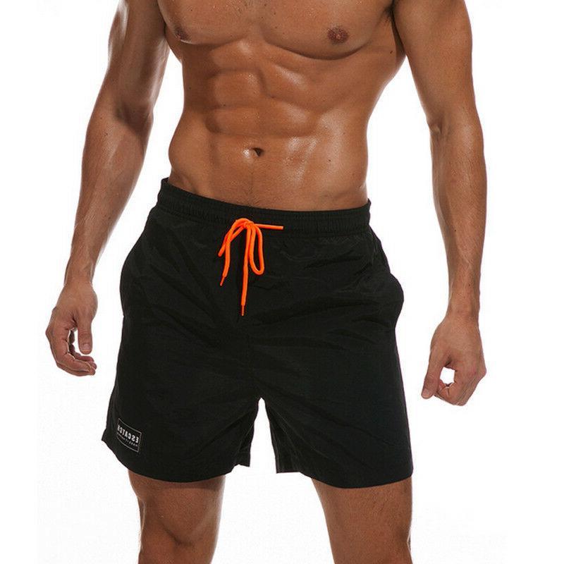 Men Swimwear Sports Run Board Trunks Casual Summer Beach Pants