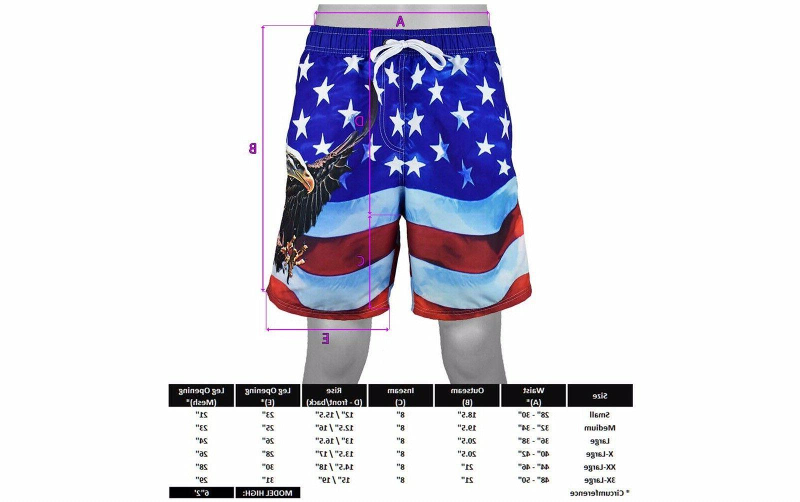 **ON SALE** Flag Swim Trunks Shorts NWT DESIGN