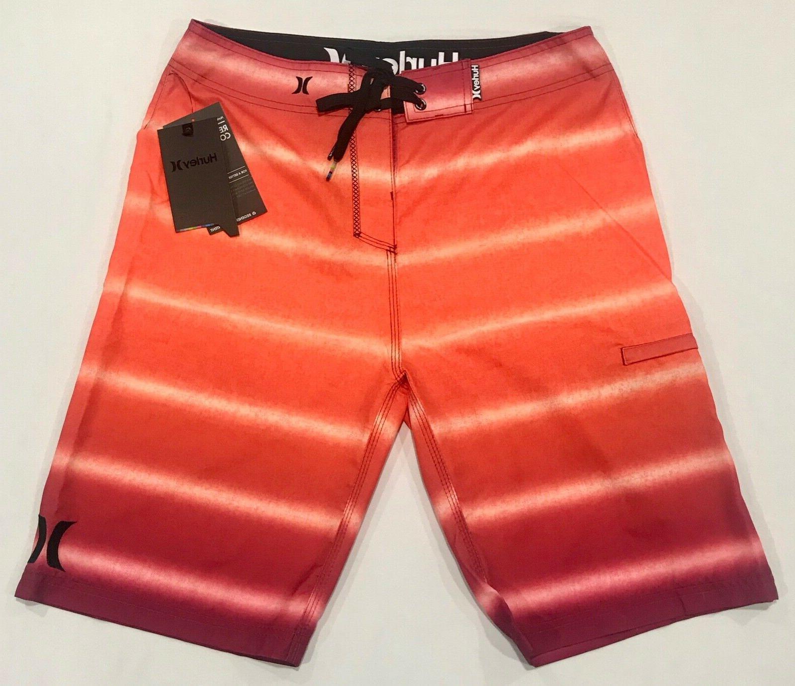 mens boardshorts swim trunk swimsuit stripe blue