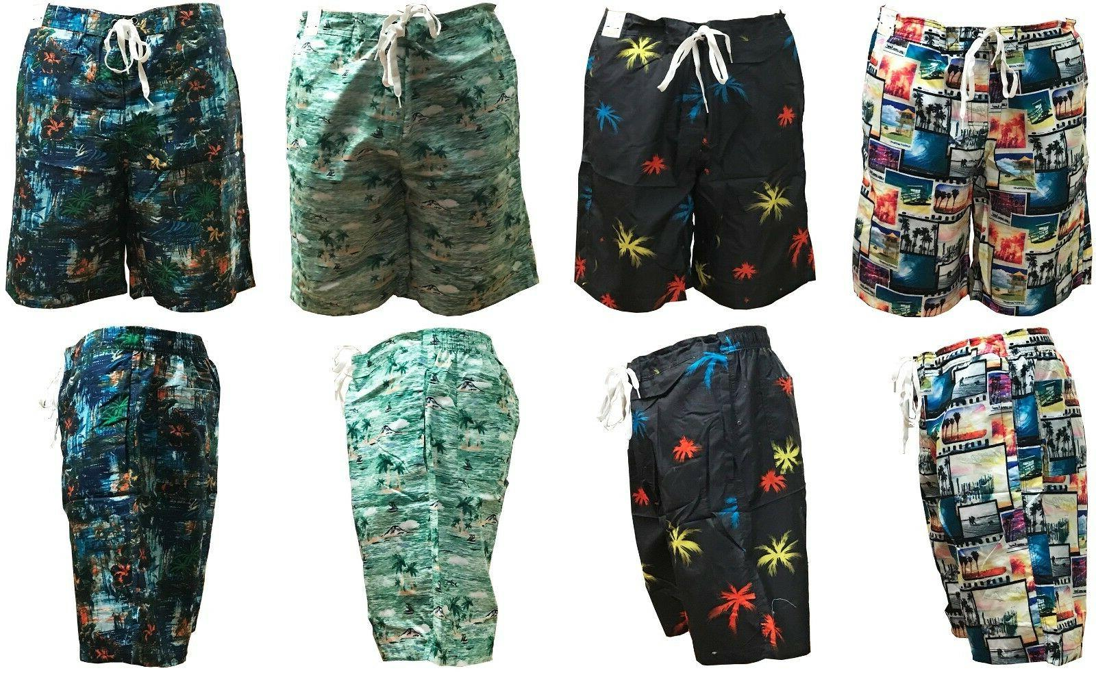 mens hawaiian swimming shorts board surf shorts