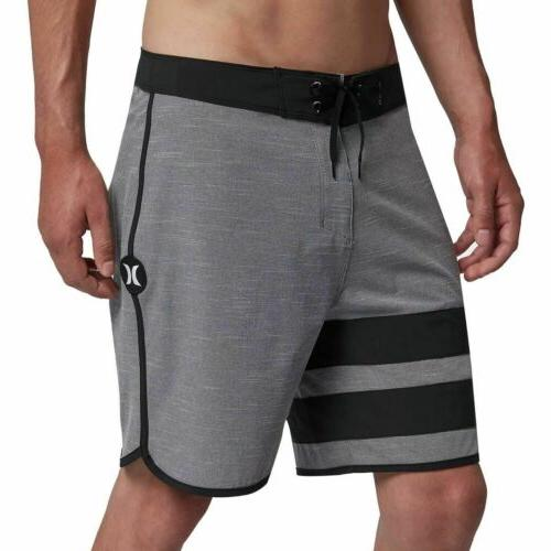 mens phantom block party 18 boardshorts black