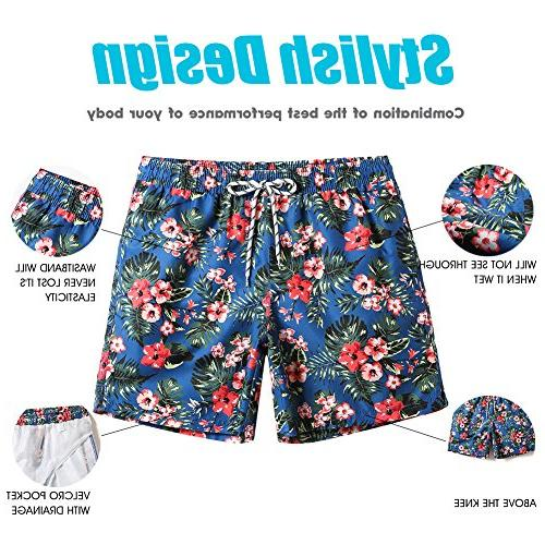 MaaMgic Mens Floral Swim Mesh Suits
