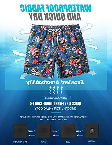 Floral Trunks Mesh Lining Bathing Suits 181118537,