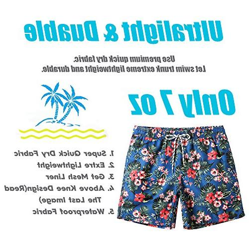 MaaMgic Floral Swim Trunks With Suits 181118537, Red,