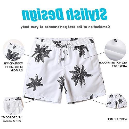 MaaMgic Mens Quick Dry Palm Swim With Lining Swimwear Bathing Suits,