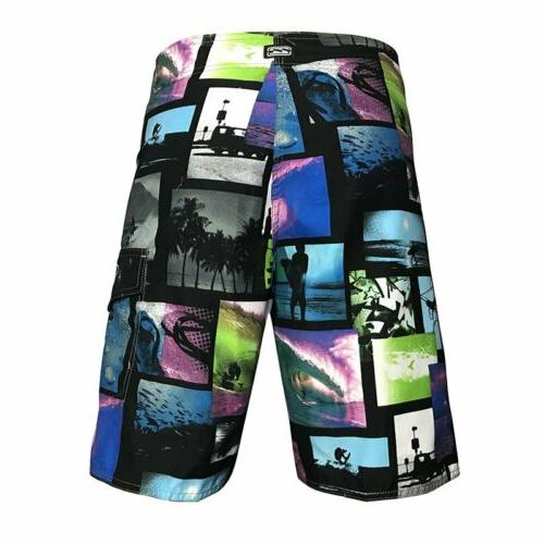 Mens Beach Board Shorts Sport Swim Wear Trunks 30-38