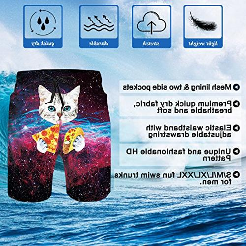 Uideazone Mens Boardshorts Trunks Galavey Cat Trunks