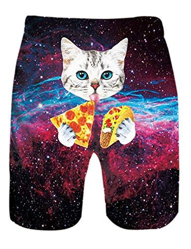 Uideazone Mens Short Trunks Galavey Cat Trunks