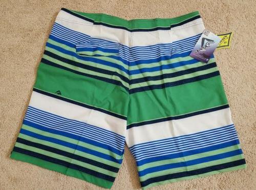 Kanu Surf Mens Optic Stripe Shorts Size 38,