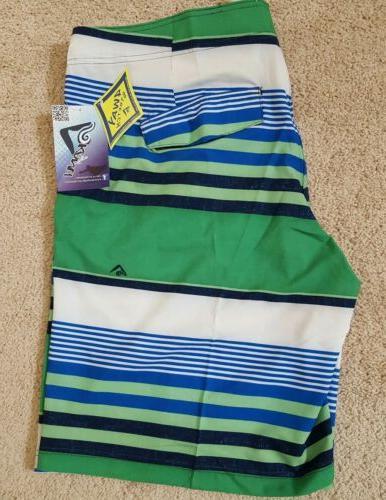 Kanu Swimwear Optic Stripe Board Size 38, NWT