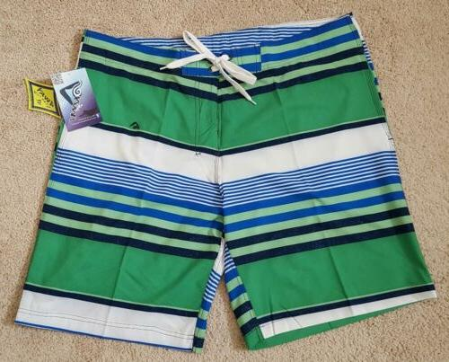 mens swimwear optic stripe board shorts size