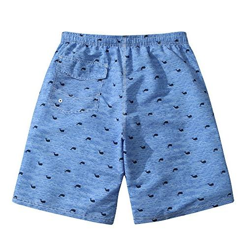 Mens Quick Dry Blue Whale Shorts