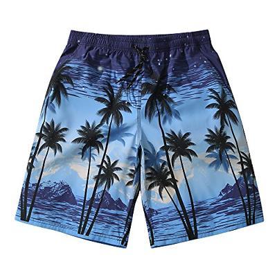 Mens Ultra Quick Dry Island Night Fashion Board Shorts 3X-La