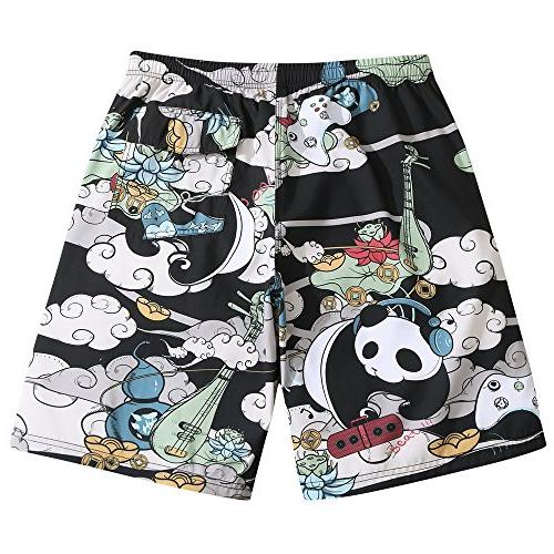 Mens Ultra Panda Musician Fashion Shorts 3X-Large 38-39
