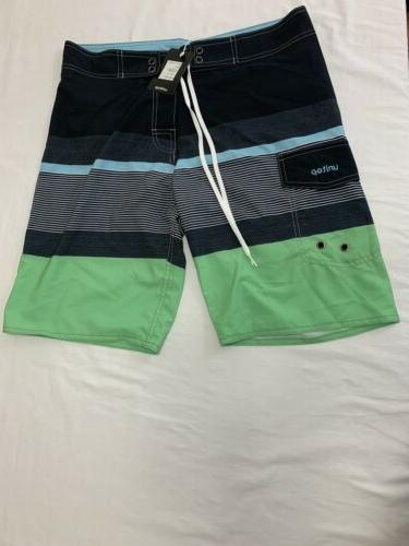 Unitop Zipper Trim Drawstring Board Shorts