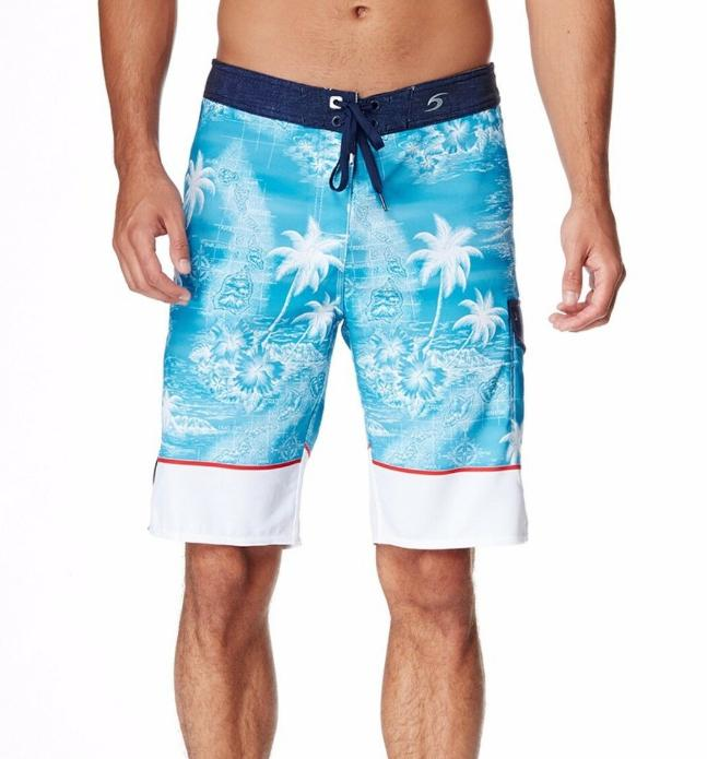 mirage mapped out trunks board shorts surf